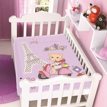 Cobertor Jolitex Infantil Berço Bebê Raschel Tres Chic Rosa