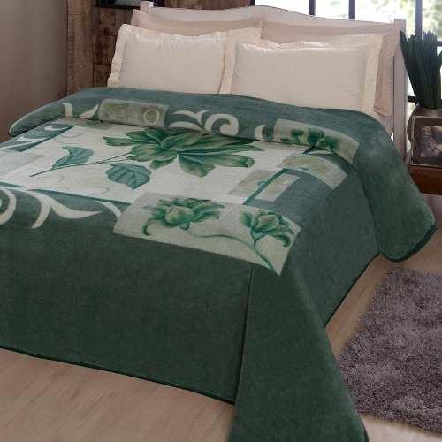 Cobertor Jolitex Casal Kyor Plus 1,80x2,20m Malbec Verde