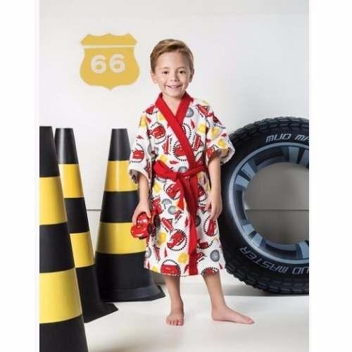 Roupão Infantil Felpudo Disney Carros Tam M (8 A 10 Anos)
