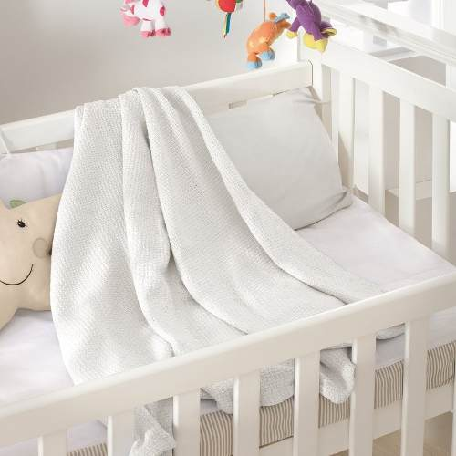 Cobertor Jolitex Infantil Bebê 100% Algodão 1,00x1,40 Branco