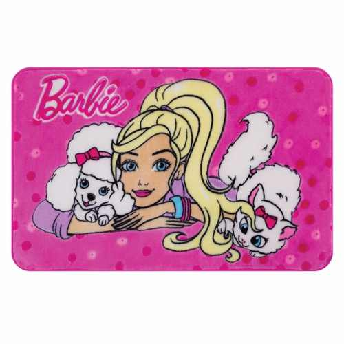 Tapete Infantil Jolitex Barbie E Bichinhos Disney 0,70x1,10m