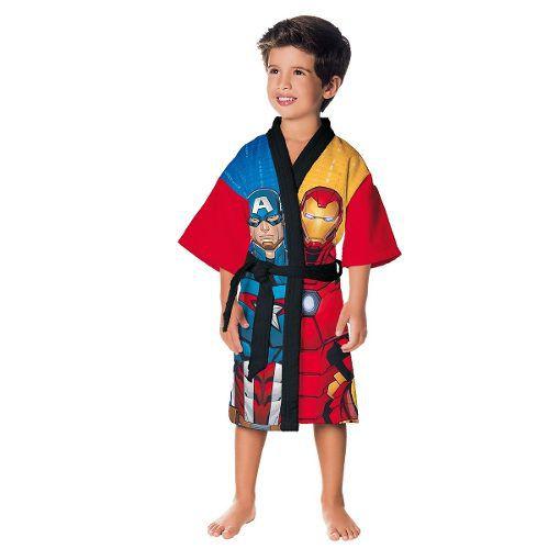 Roupão Infantil Aveludado Vingadores Tam G 12 a 14 Anos Lepper
