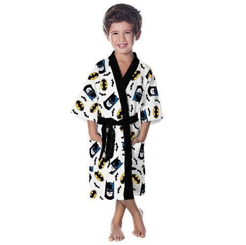Roupão Infantil Felpudo Batman Tam M (8 A 10 Anos) Lepper