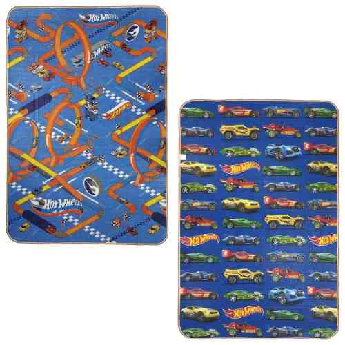 Tapete Recreio Jolitex Dupla Face Hot Wheels 1,20x1,80m