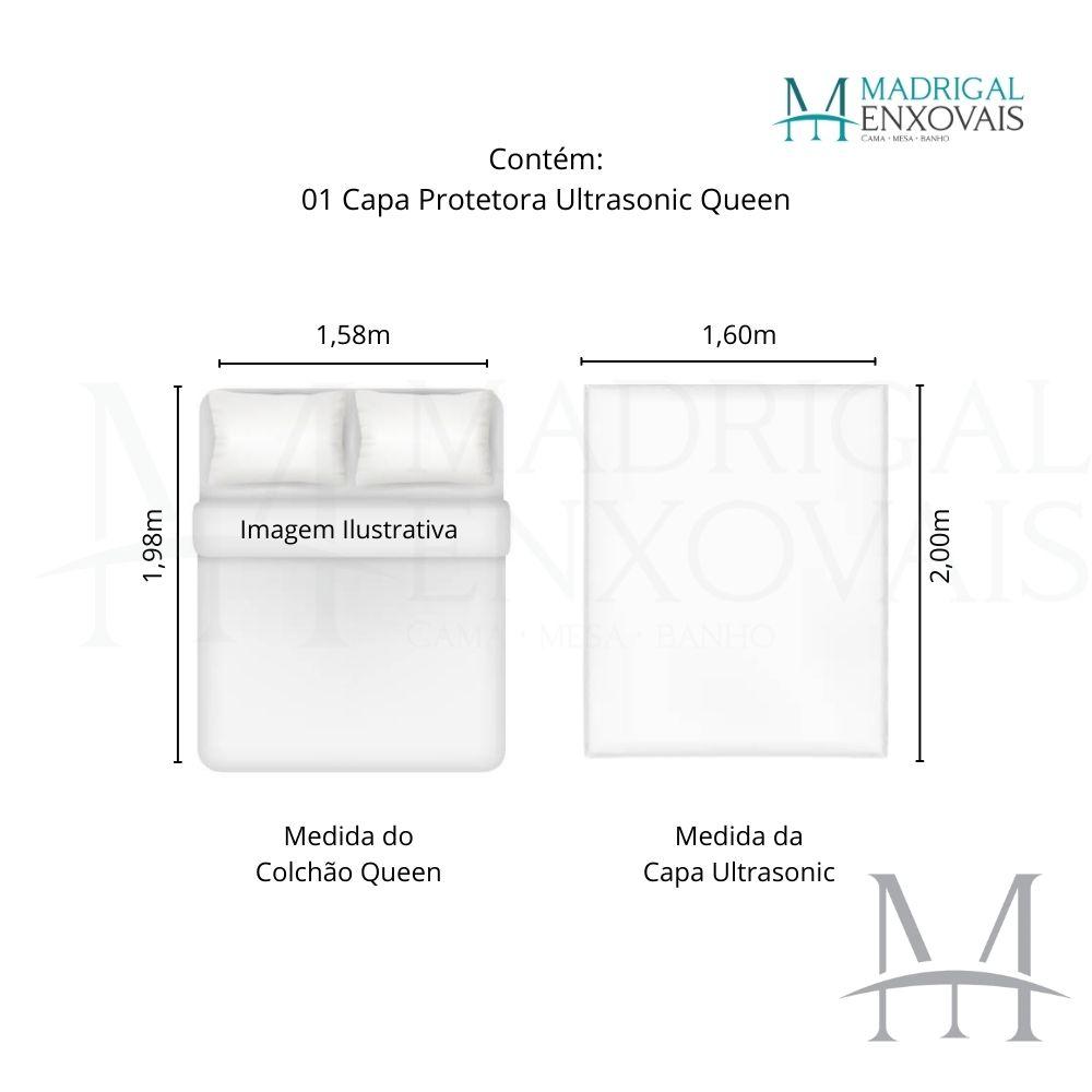 Capa Protetor Colchão Queen Impermeável Ultrasonic Kacyumara