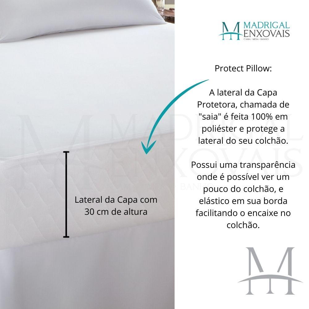 Capa Protetor De Colchão Casal Impermeável Malha Kacyumara