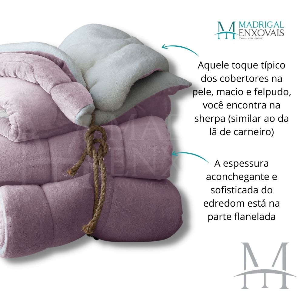 Coberdrom Casal Sherpa Naturalle Liso 1,80x2,20m Rosa