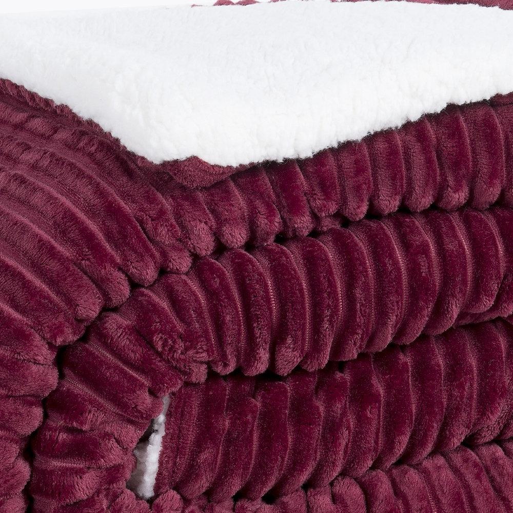 Coberdrom Queen Sherpa Lavive 2,20x2,40m Super Macio Vinho