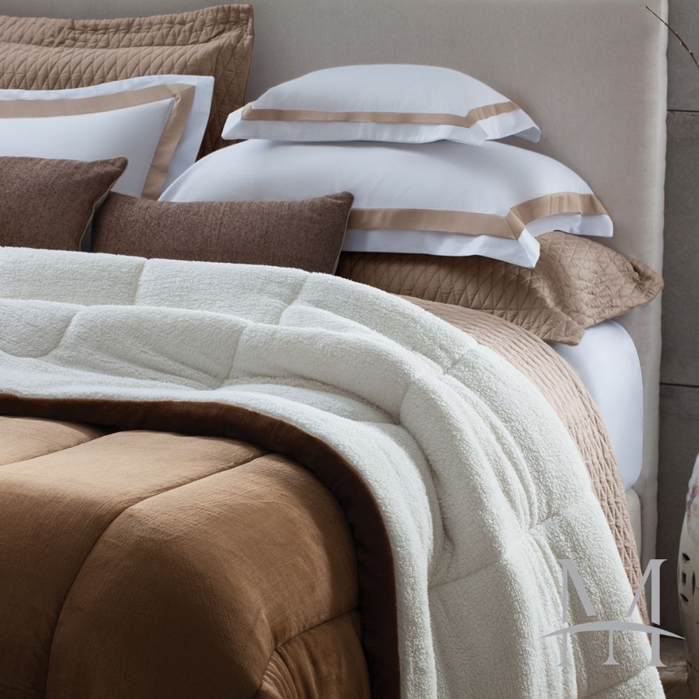 Coberdrom Queen Sherpa Naturalle Liso 2,20x2,45m Cappuccino