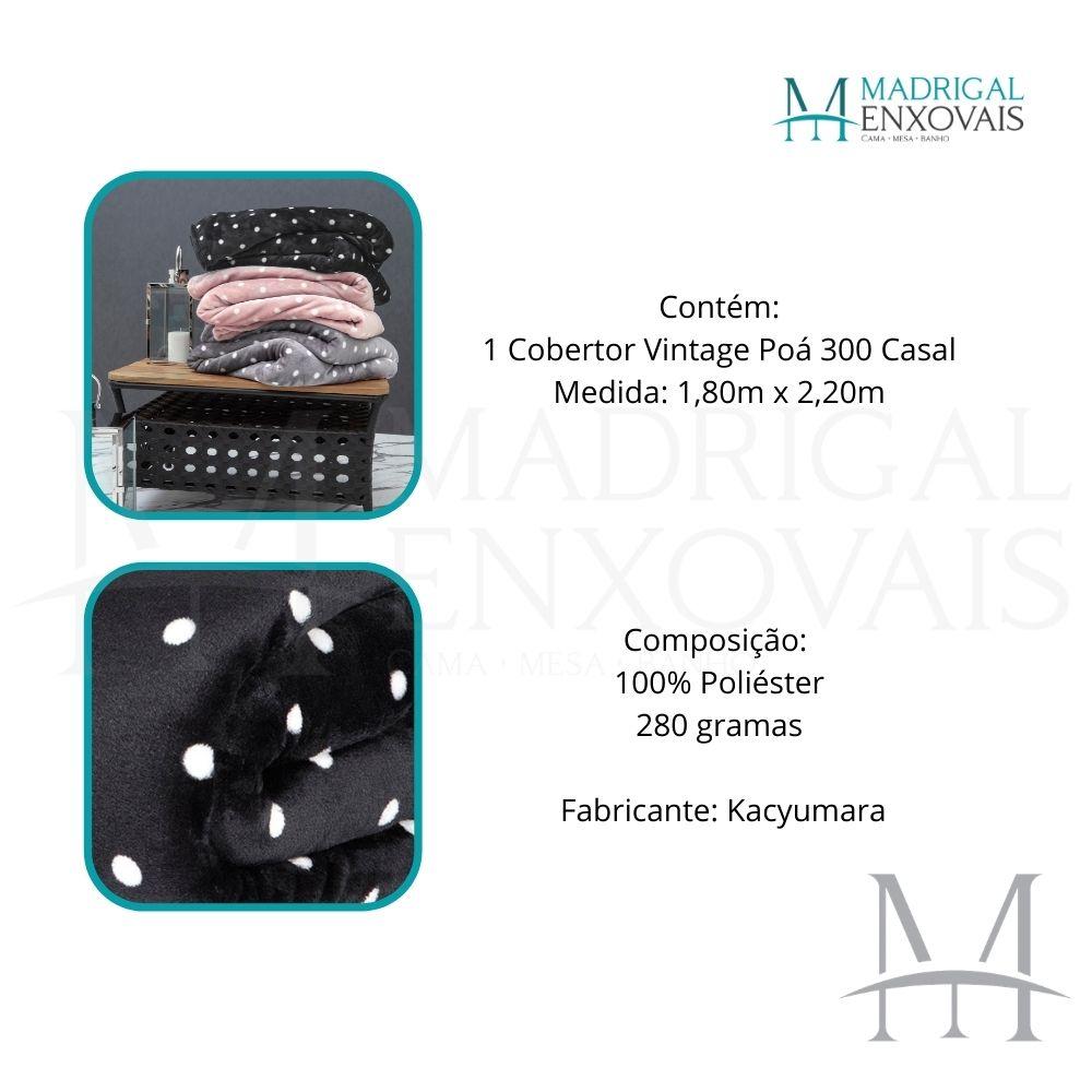 Cobertor Casal Kacyumara Blanket Vintage Poa 1,80x2,20m