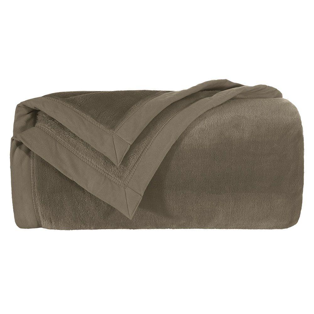 Cobertor Casal Liso Blanket 600 Toque de Seda Kacyumara