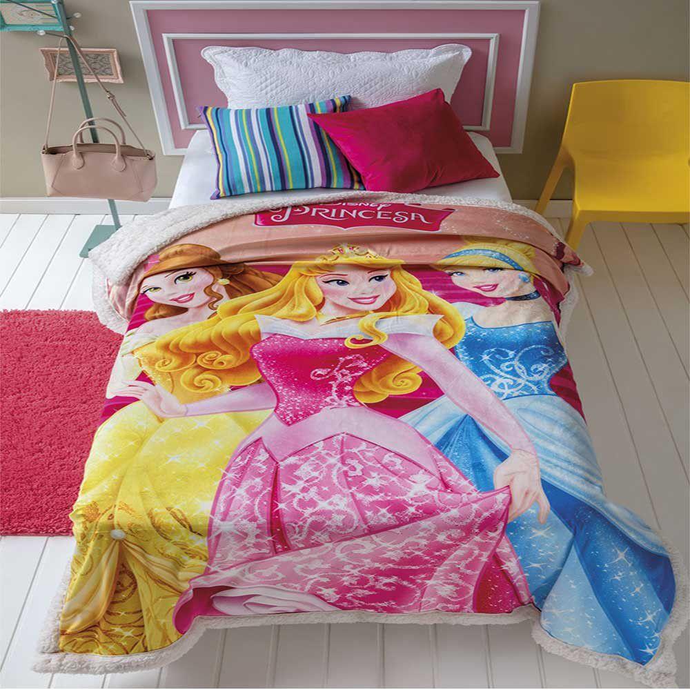 Cobertor com Sherpa Jolitex Solteiro Digital Disney Princesas ... 9c5953d66ef09