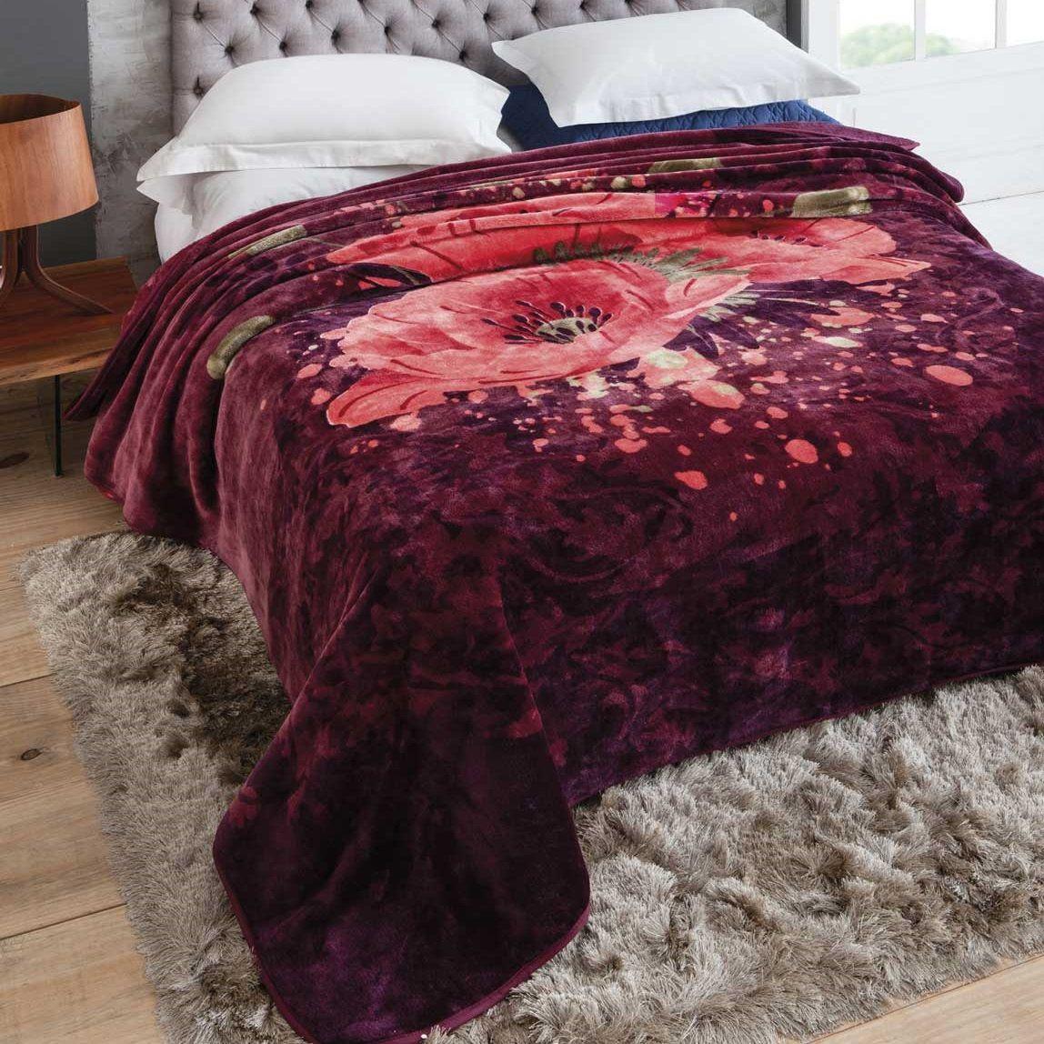 Cobertor Jolitex Casal King Raschel Toque Macio Fragrancia