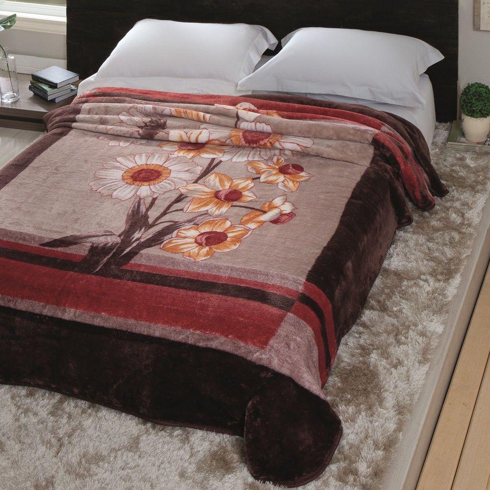 Cobertor Jolitex Casal Kyor Plus 1,80x2,20m Amarante