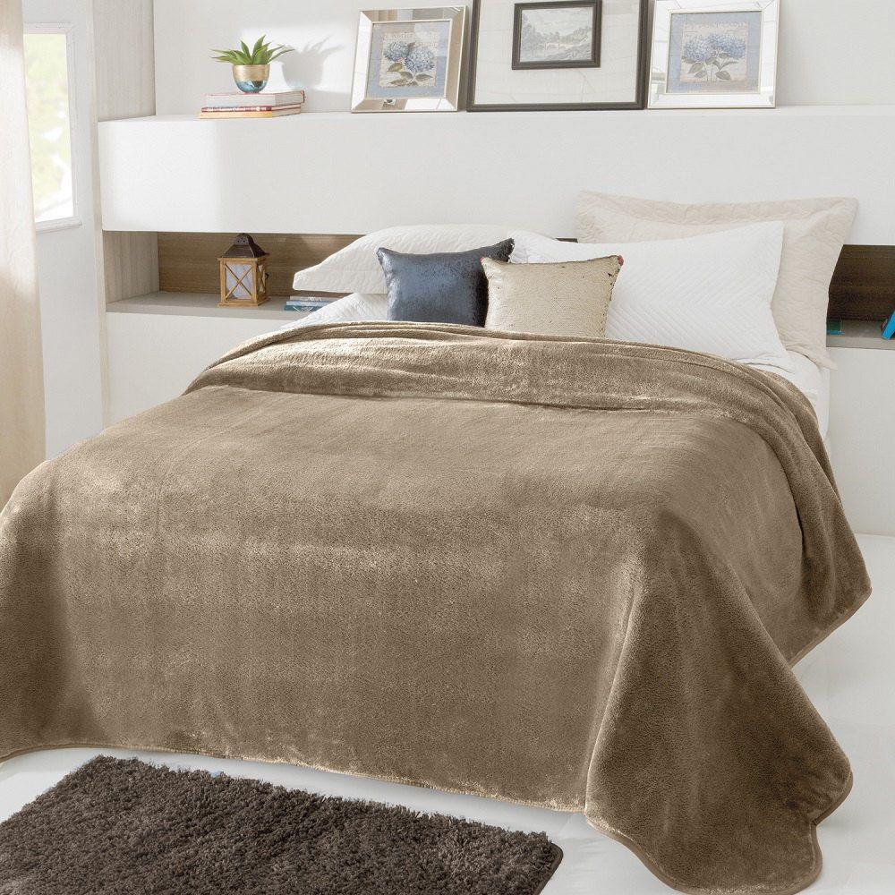 Cobertor Jolitex Casal Kyor Plus 1,80x2,20m Liso Fendi