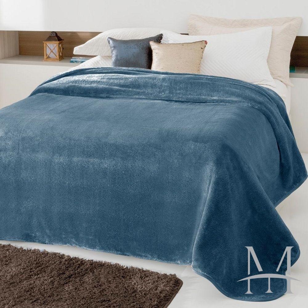 Cobertor Jolitex Casal Kyor Plus 1,80x2,20m Liso Petróleo