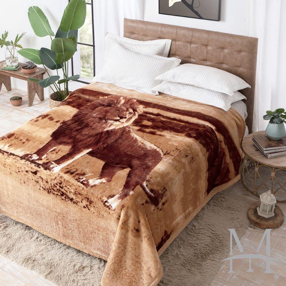 Cobertor Jolitex Casal Leão Raschel Plus 1,80x2,20m Toque Macio