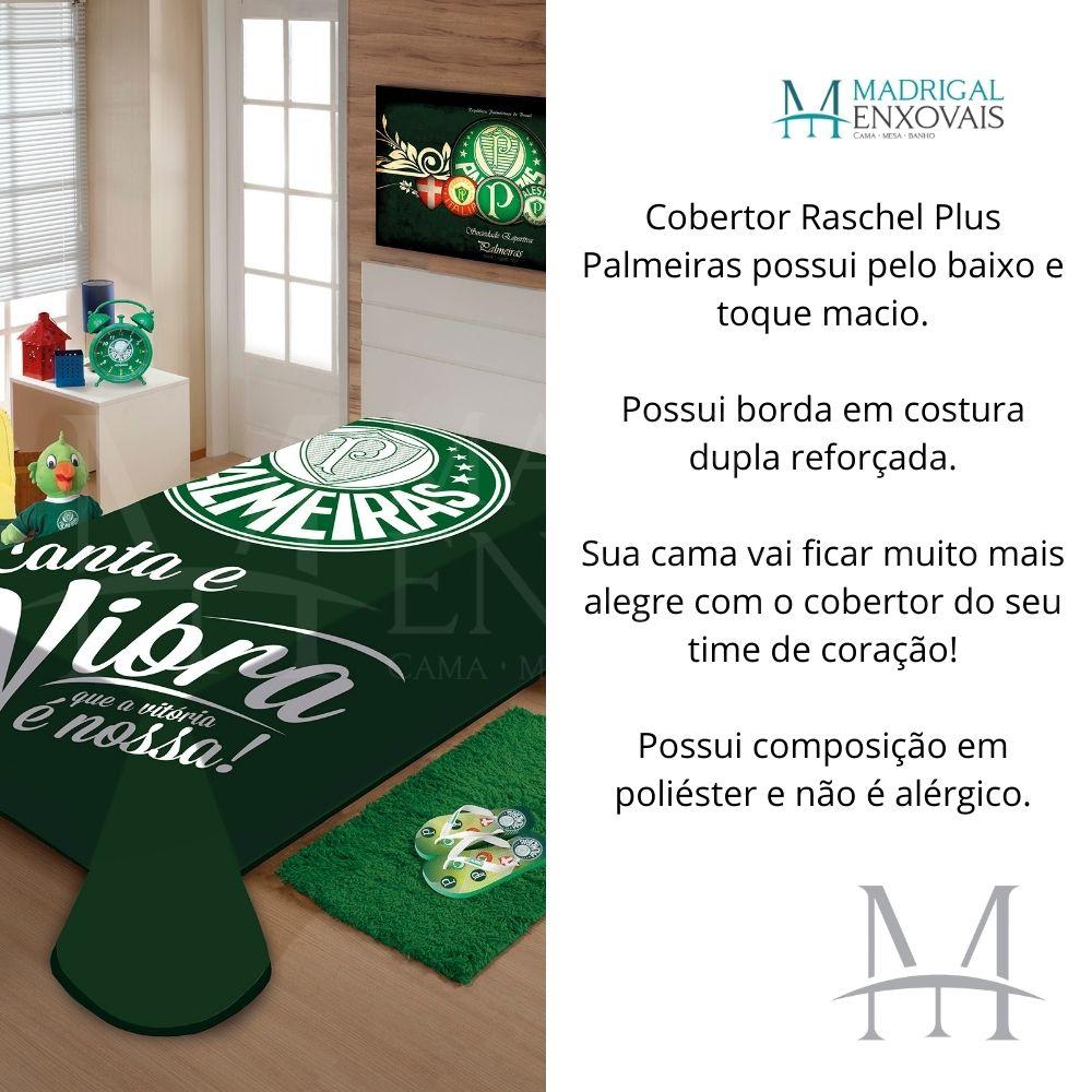 Cobertor Jolitex Casal Palmeiras Raschel Time Toque Macio
