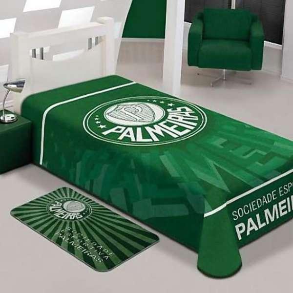 Cobertor Jolitex Casal Raschel Toque Macio Time Palmeiras