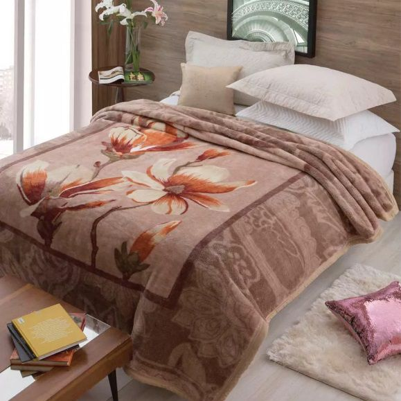 Cobertor Jolitex Casal Tradicional Pêlo Alto Antique