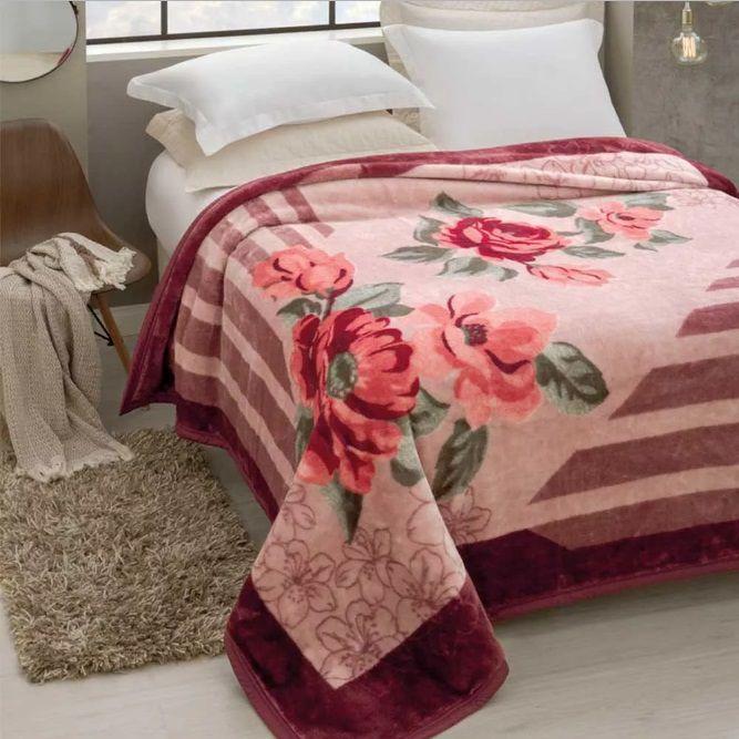 Cobertor Jolitex Casal Tradicional Pêlo Alto Rozen
