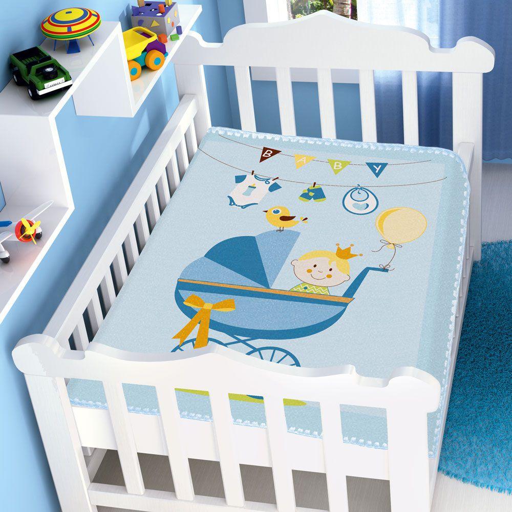 Cobertor Jolitex Infantil Berço Bebê Raschel Carrinho Bebê