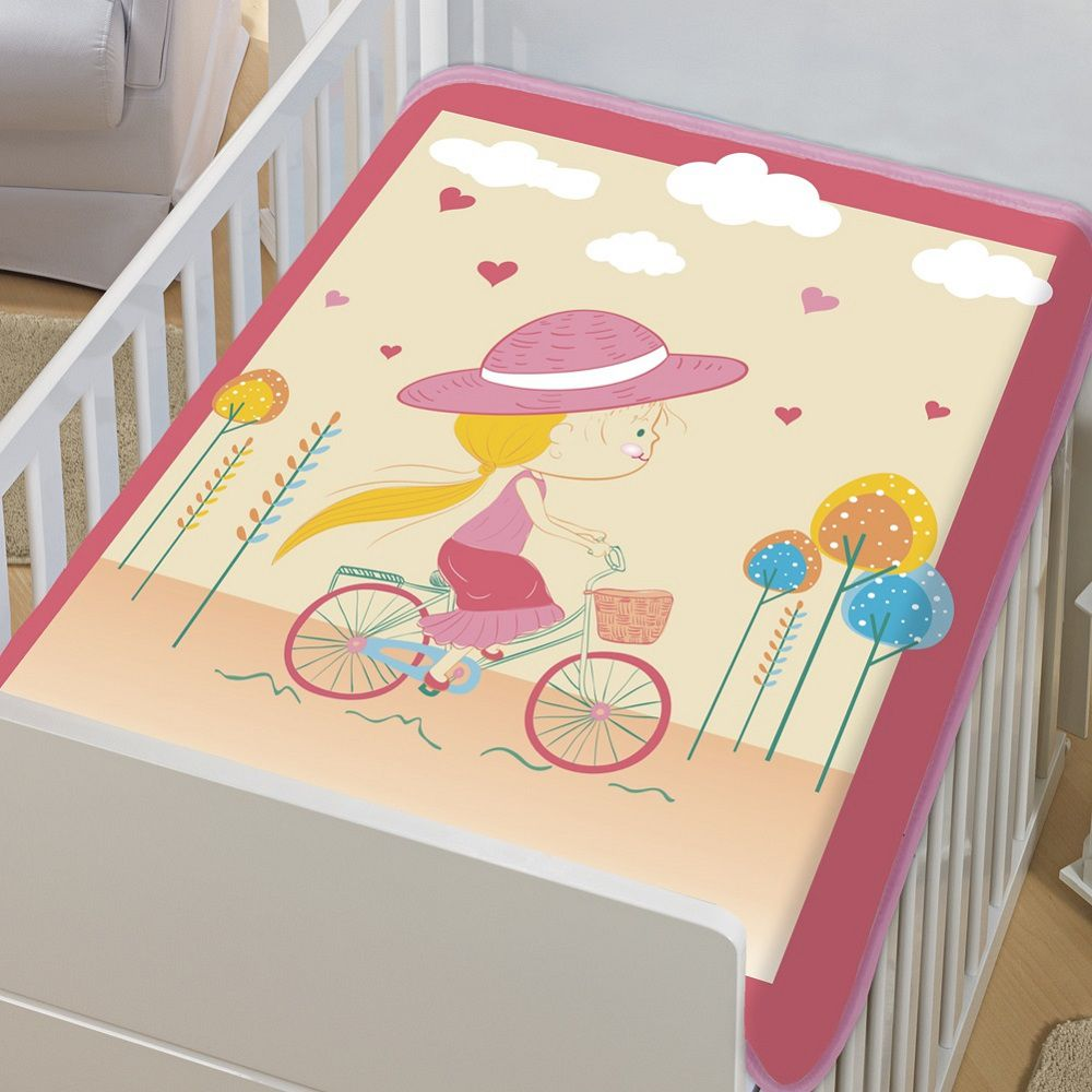 Cobertor Jolitex Infantil Berço Bebê Tradicional Mocinha Rosa