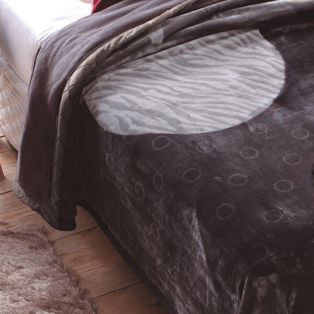Cobertor Jolitex King Dupla Face Raschel Double Atlantic