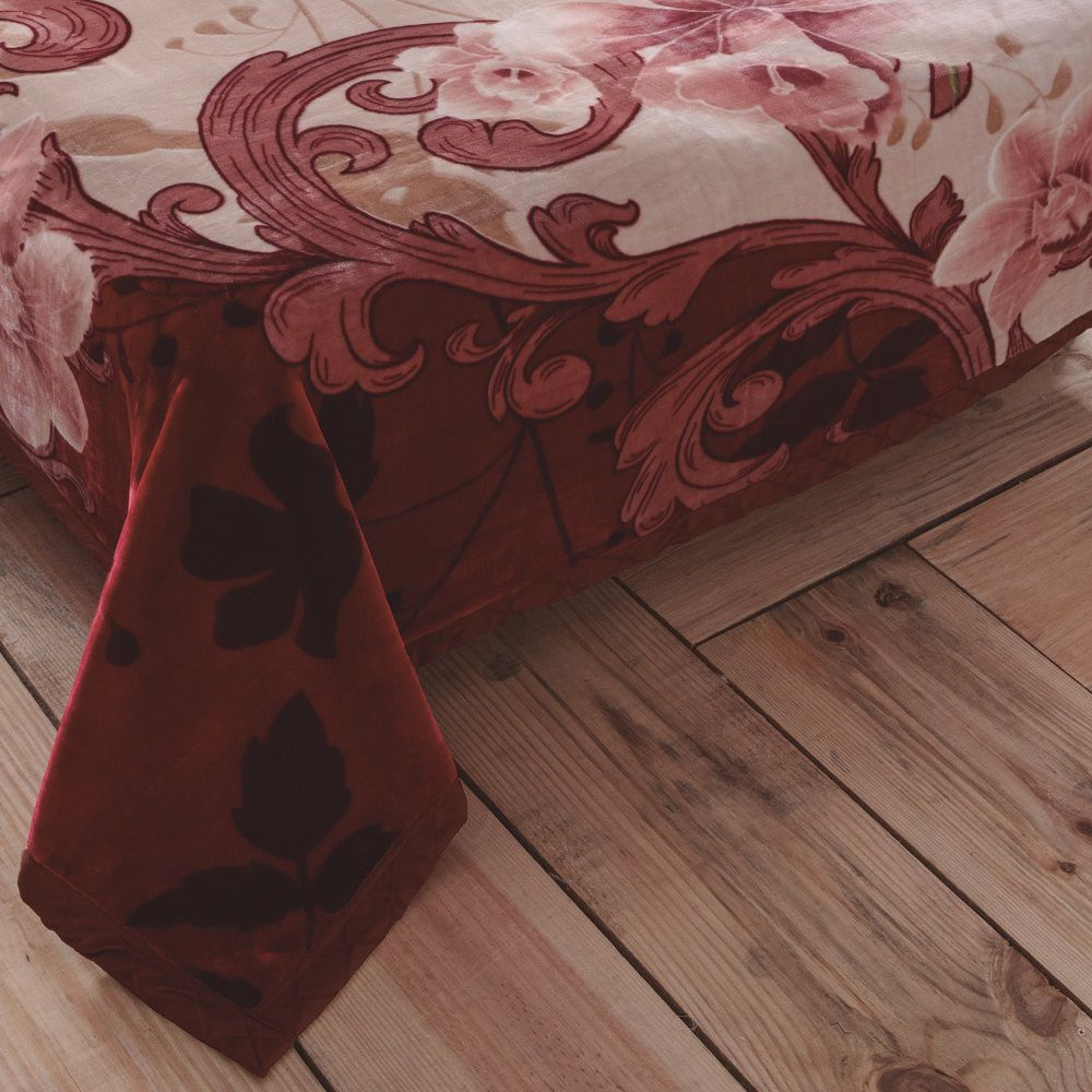 Cobertor Jolitex King Dupla Face Raschel Double Fiorita