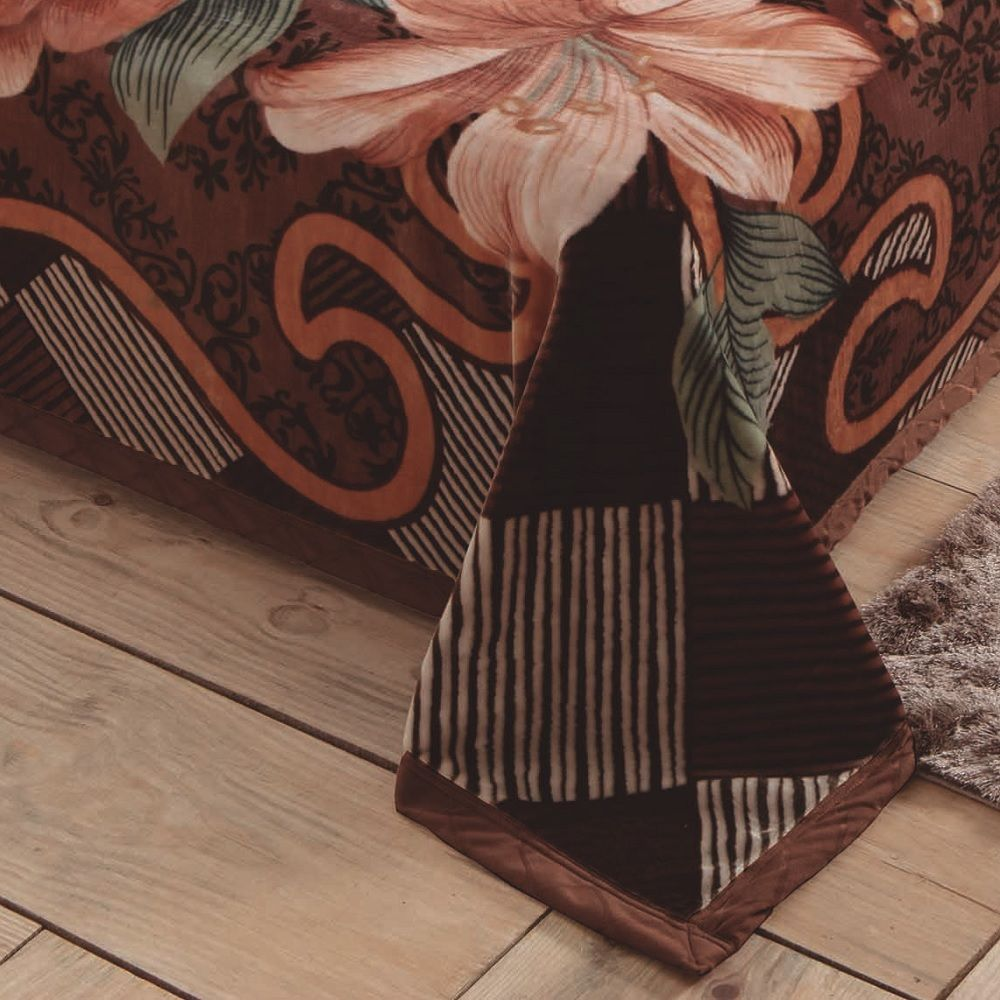 Cobertor Jolitex King Dupla Face Raschel Double Floray