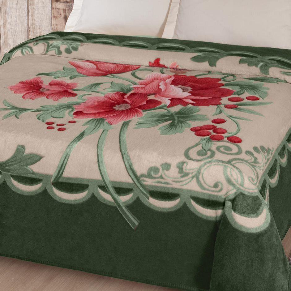 Cobertor Jolitex King Size Kyor Plus 2,20x2,40m Fiore Verde