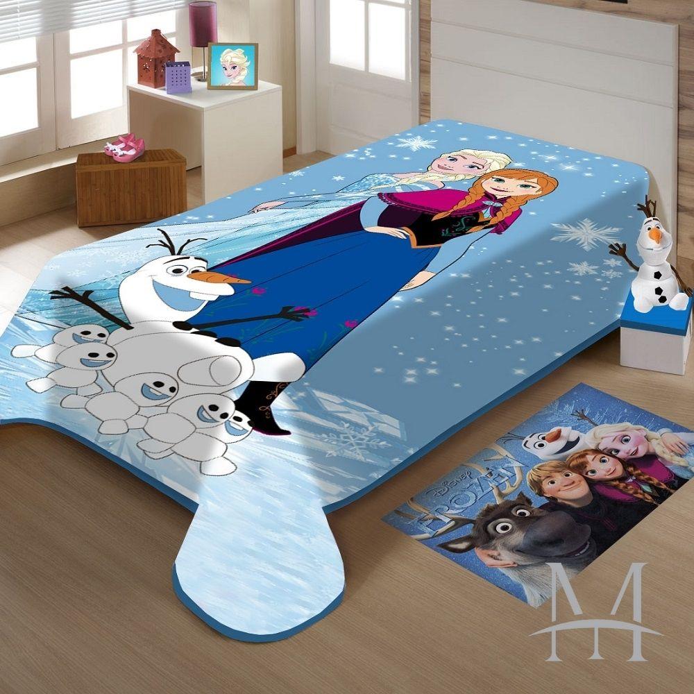 Cobertor Jolitex Solteiro Frozen Disney Raschel Plus 1,50x2,00m