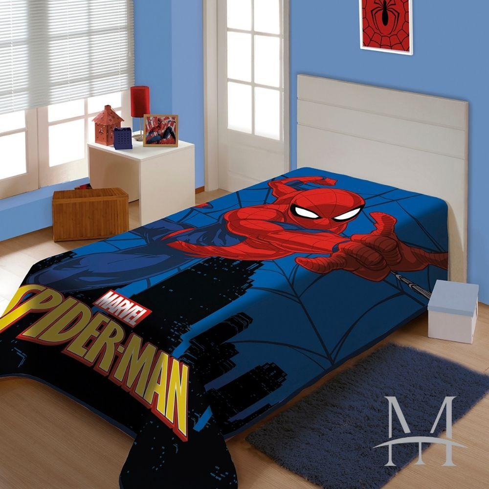 Cobertor Jolitex Solteiro Homem Aranha Raschel Plus 1,50x2,00m