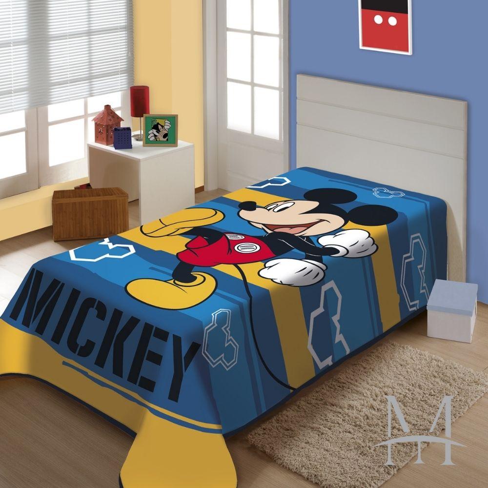 Cobertor Jolitex Solteiro Mickey Disney Raschel Plus 1,50x2,00m