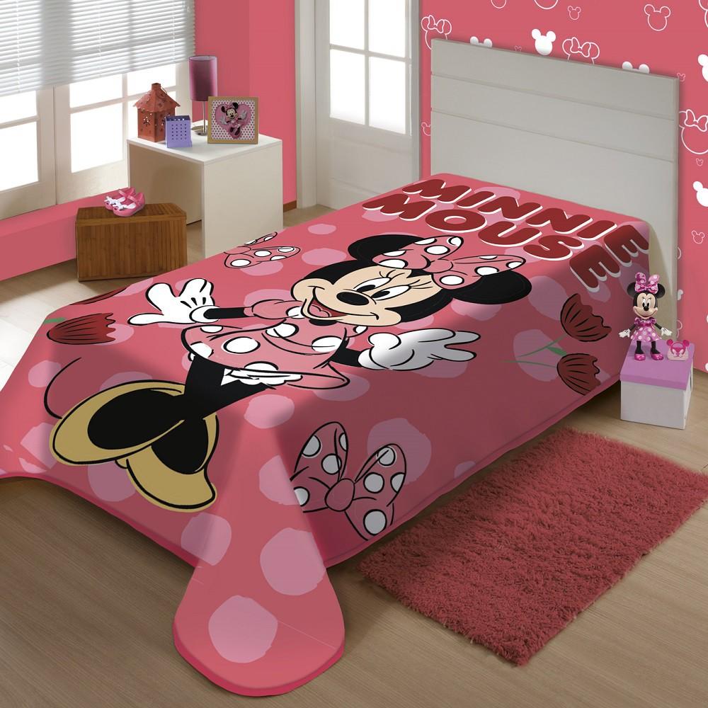 Cobertor Jolitex Solteiro Minnie Disney Raschel Plus 1,50x2,00m