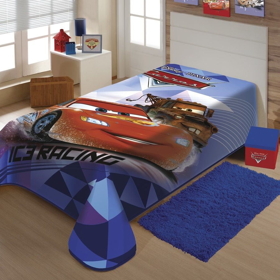 Cobertor Jolitex Solteiro Raschel Macio Disney Carros Pixar
