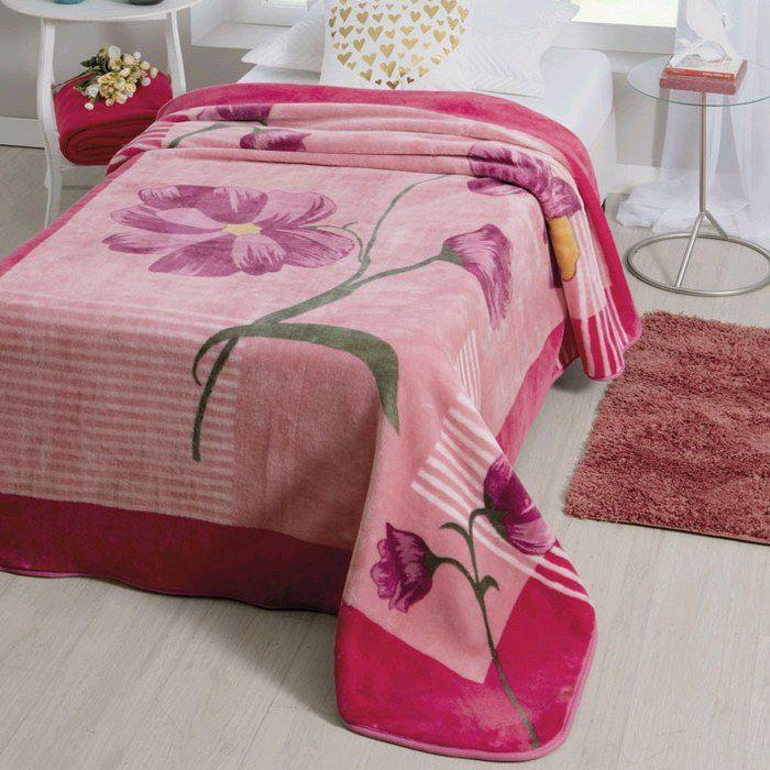 Cobertor Jolitex Solteiro Raschel Toque Macio Anecy