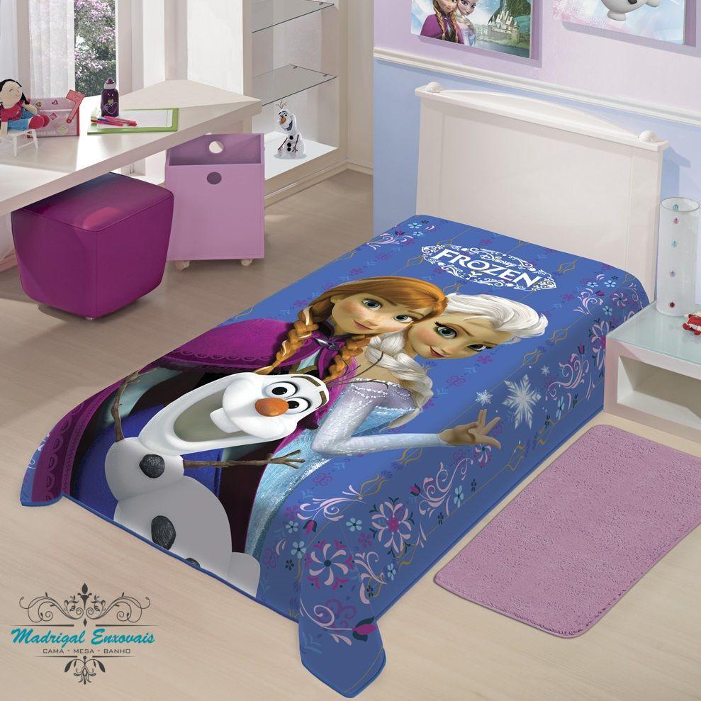 Cobertor Jolitex Solteiro Raschel Toque Macio Disney Frozen