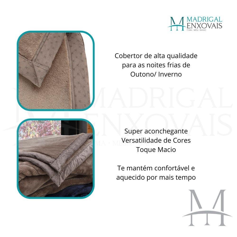 Cobertor King Kacyumara Blanket 700 Liso 2,40x2,60m Caqui
