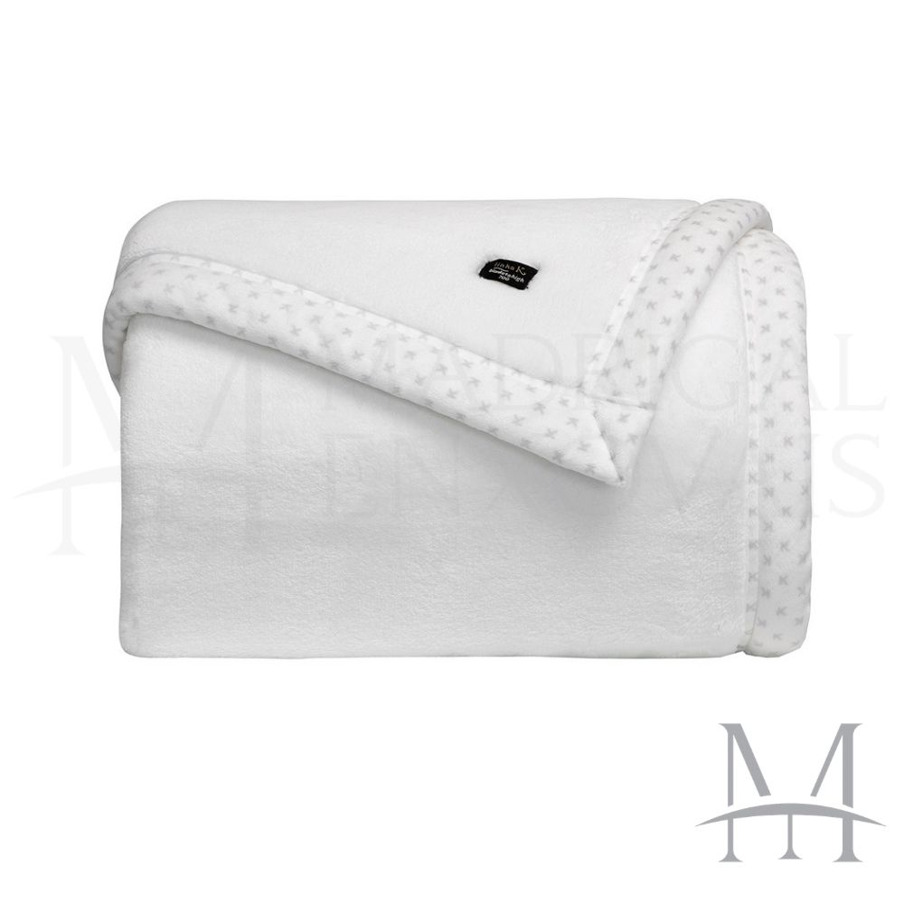 Cobertor Queen Kacyumara Blanket 700 Liso 2,20x2,40m Branco