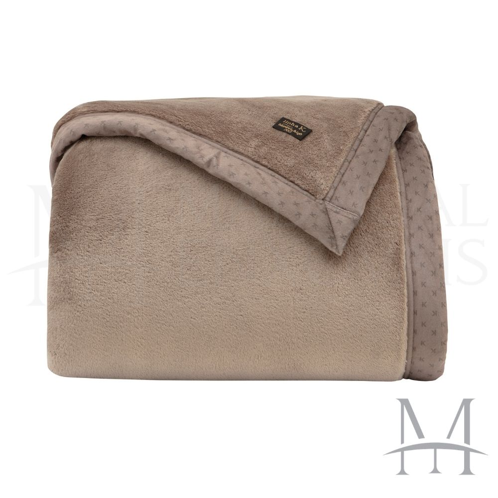 Cobertor Queen Kacyumara Blanket 700 Liso 2,20x2,40m Caqui