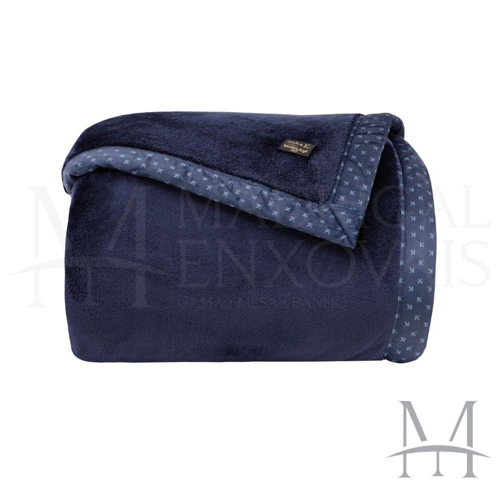 Cobertor Queen Kacyumara Blanket 700 Liso 2,20x2,40m Marinho