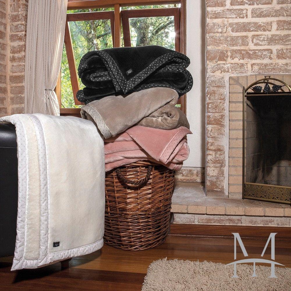 Cobertor Queen Kacyumara Blanket 700 Liso 2,20x2,40m Preto