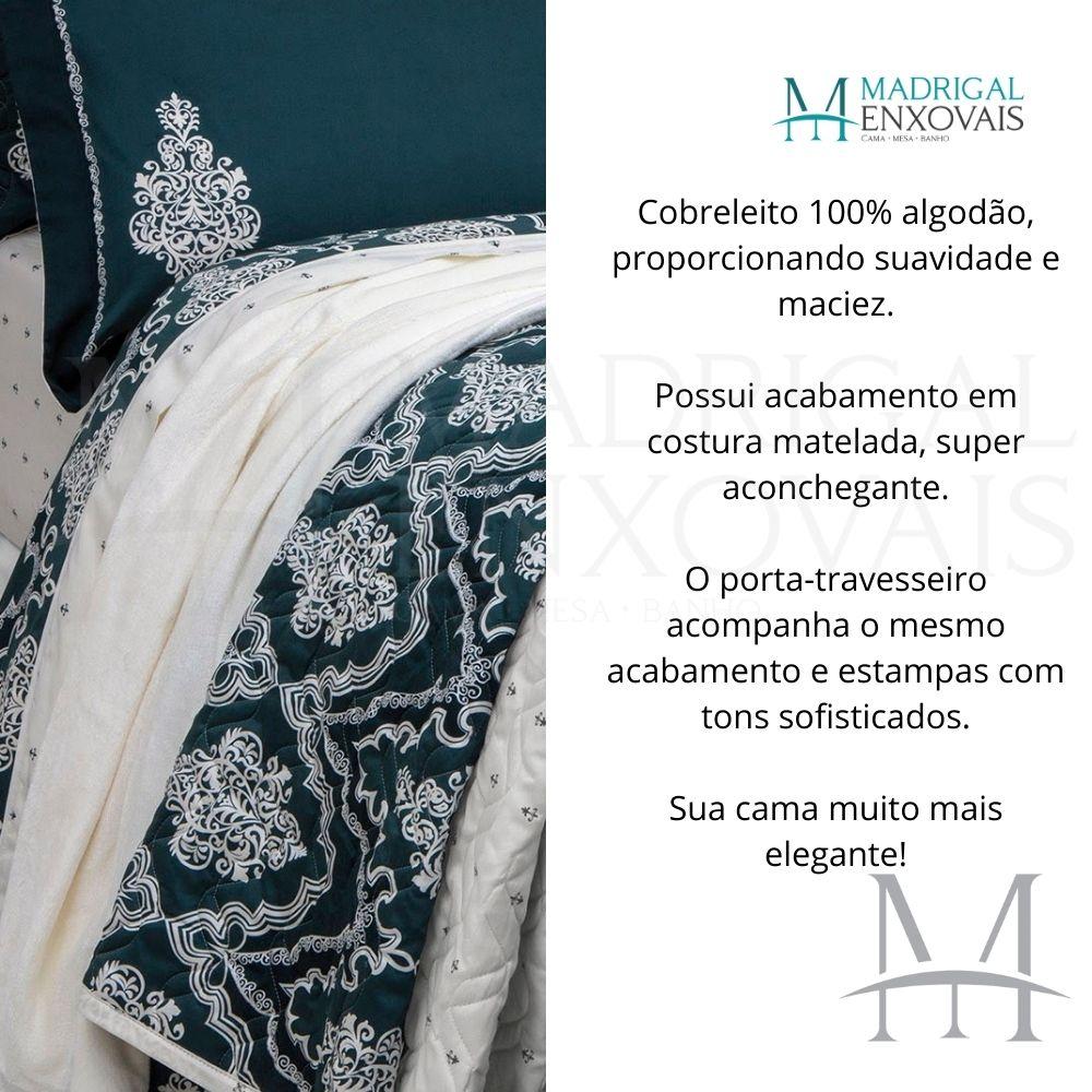 Cobreleito Casal 300 Fios Kacyumara Satinee 03 Peças Serpa
