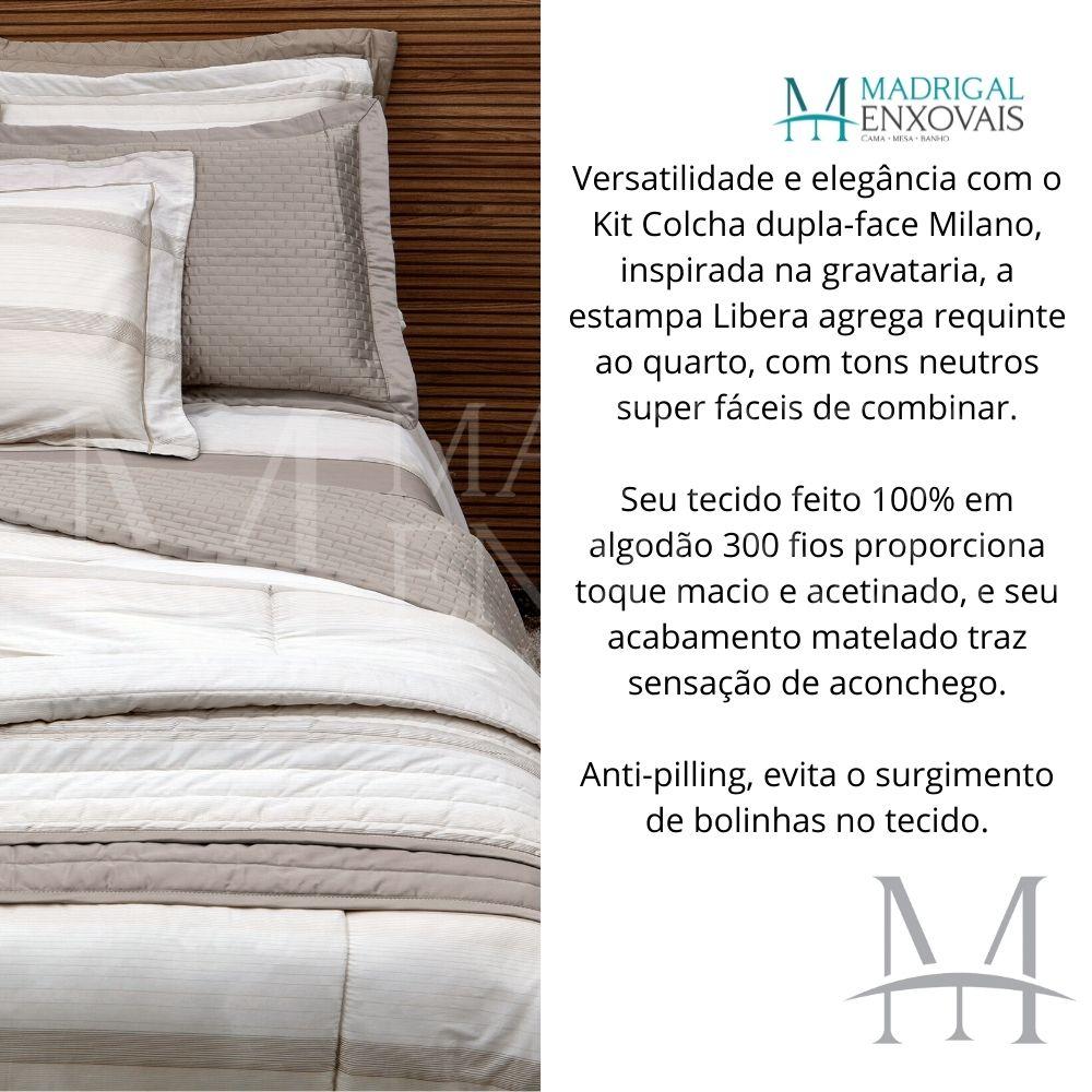 Cobreleito King 300 Fios Kacyumara Milano 03 Peças Libera