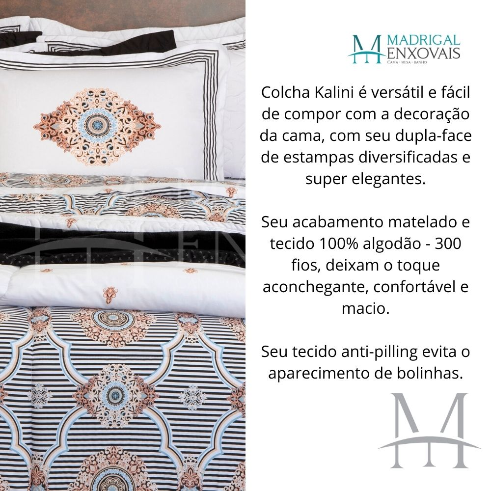 Cobreleito King 300 Fios Kacyumara Satinee 03 Peças Kalini