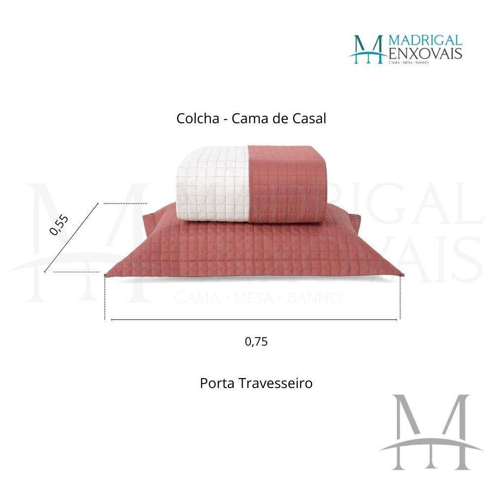 Cobreleito Plaza Lavive Casal 03 Peças Dupla Face Cobre