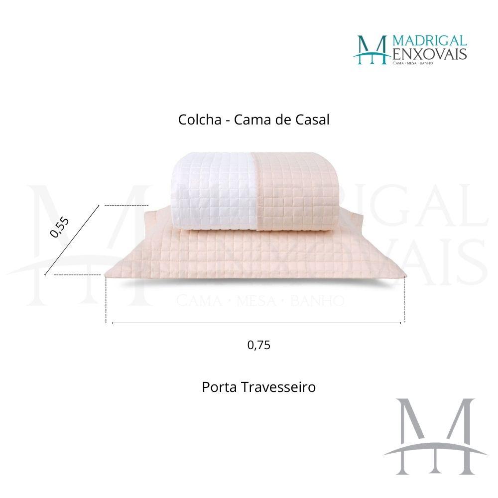 Cobreleito Plaza Lavive Casal 03 Peças Dupla Face Sal Rosa