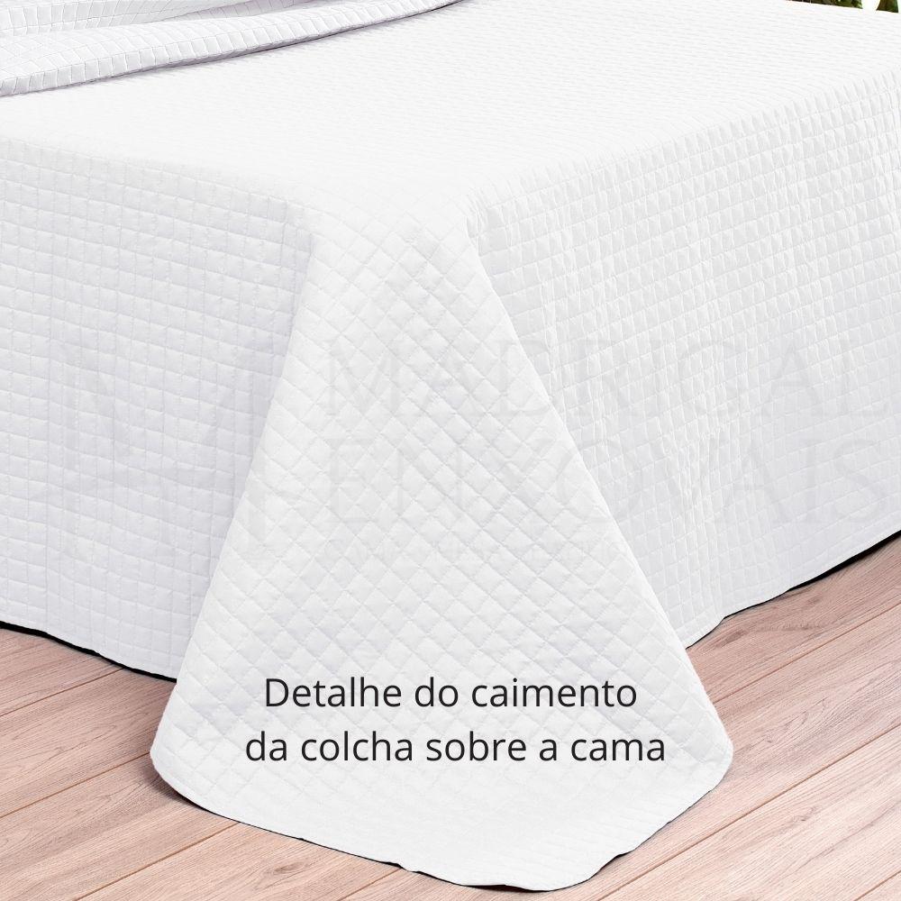 Cobreleito Plaza Lavive King 03 Peças Dupla Face Branco