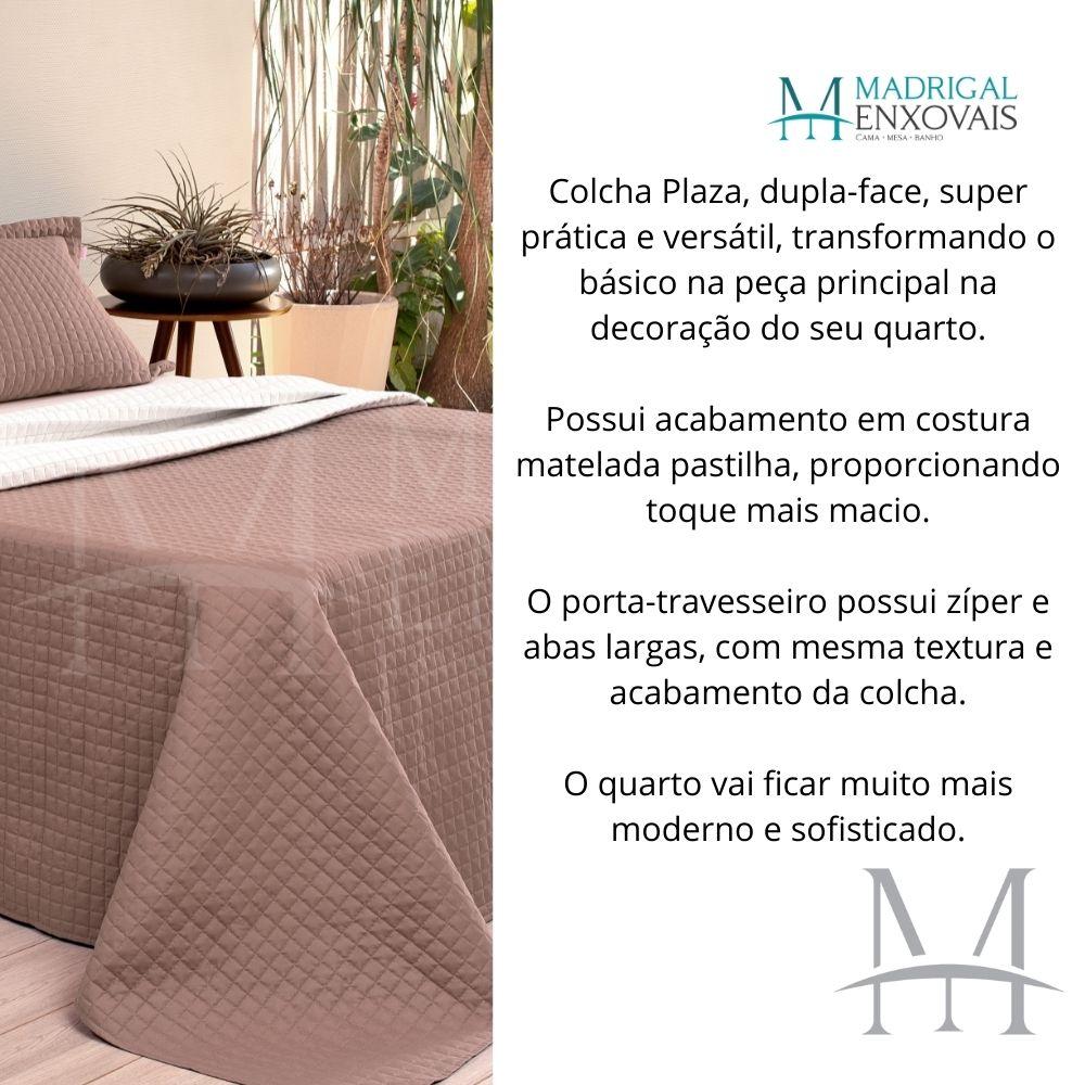 Cobreleito Plaza Lavive King 03 Peças Dupla Face Capuccino/Palha